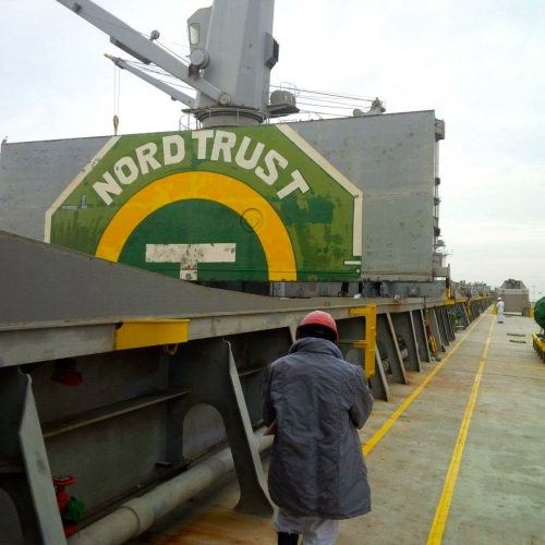 On board Nord Trust in Chile