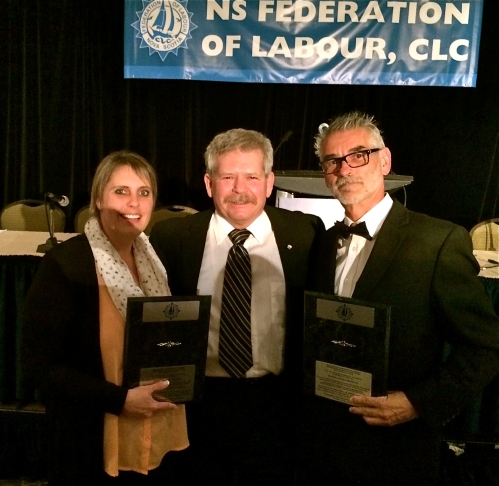 Gerard was honoured for his service to working people this year when the Nova Scotia Federation of Labour named him Trade Unionist of the Year.